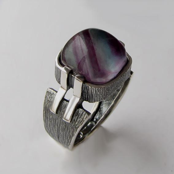 Кольцо с флюоритом, арт.МП3