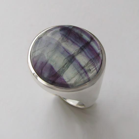Кольцо с флюоритом, арт. НКН318