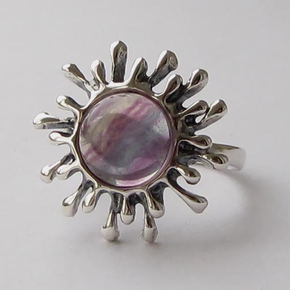 Кольцо с флюоритом, арт. СЧ3