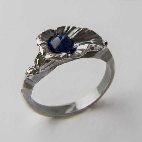 Кольцо с кианитом, арт.ЛИС35