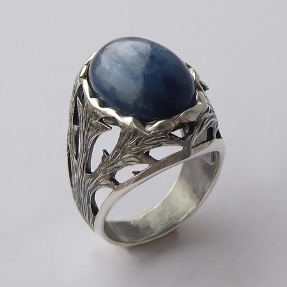 Кольцо с кианитом, арт.ЛИН312