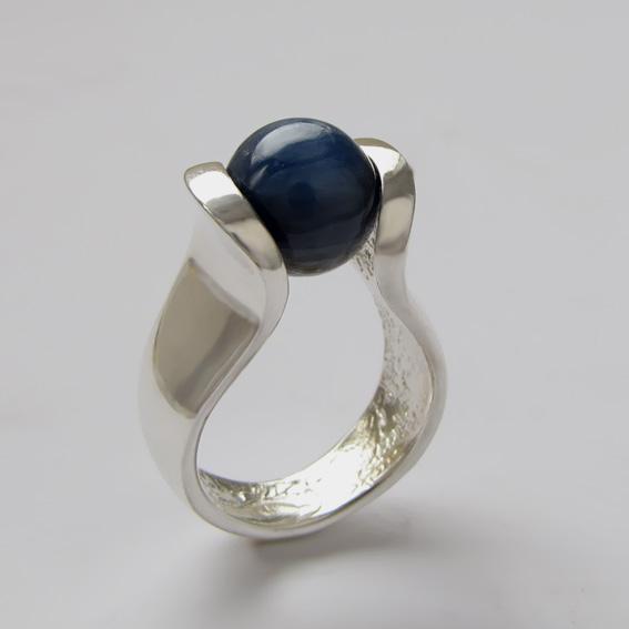 Кольцо с кианитом, арт.МРС3