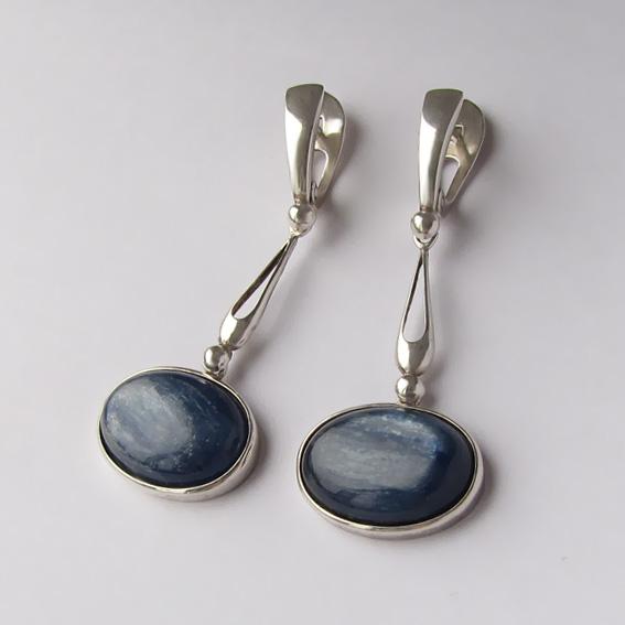Серебряные серьги с кианитом, арт. ОВД413
