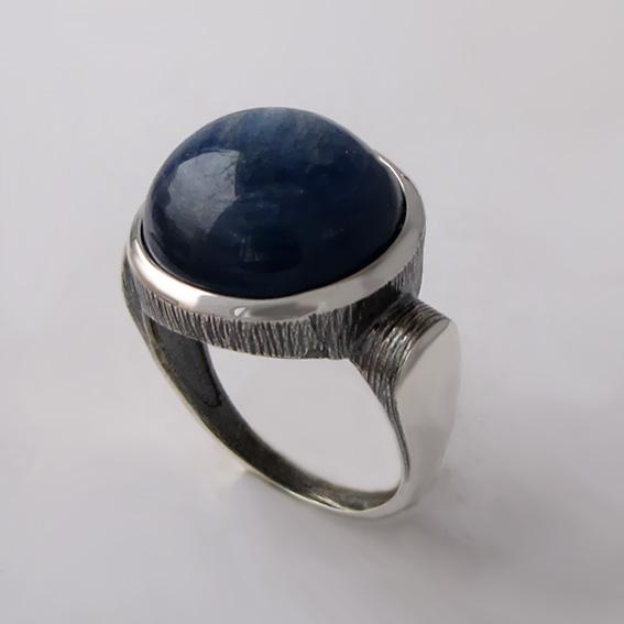 Кольцо с кианитом, арт.ЗЕК315Ч