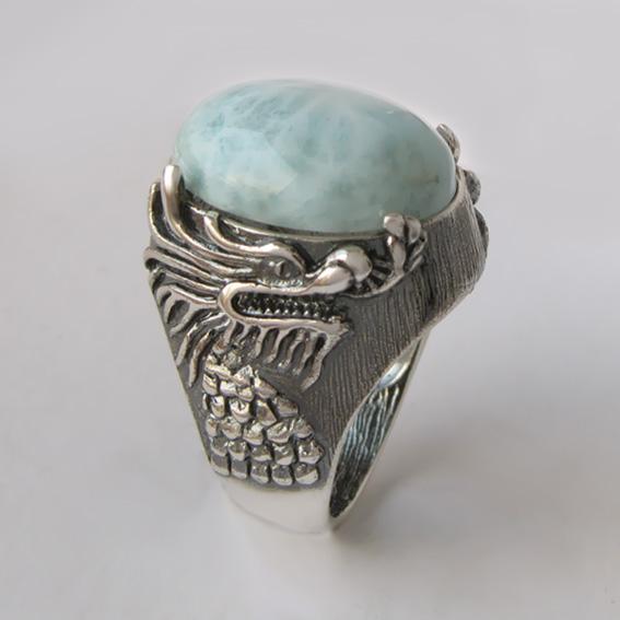 Кольцо с ларимаром, арт. ЕСФ315