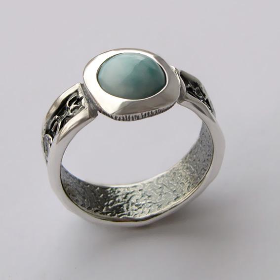 Кольцо с ларимаром, арт. ИЕ3