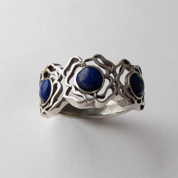 Кольцо с лазуритом,, арт. 3ОР3