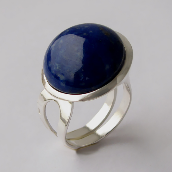 Кольцо из серебра с лазуритом, арт. БА3Н