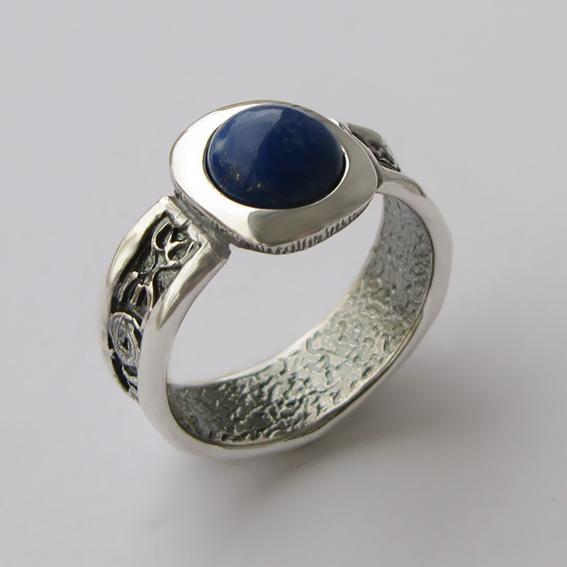 Кольцо с лазуритом, арт. ИЕ3