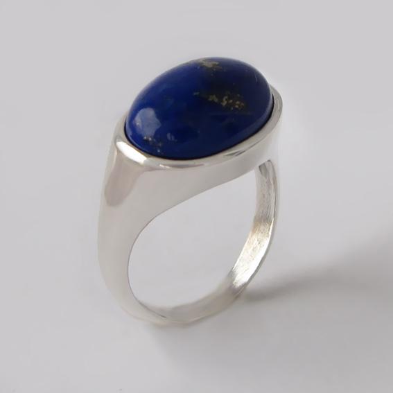 Кольцо с лазуритом, арт. КОВ312