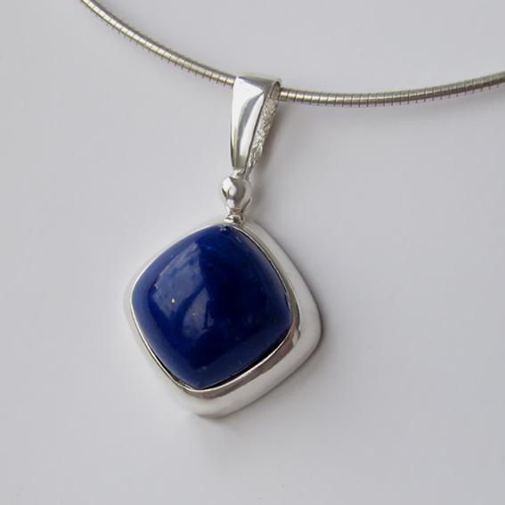 Кулон из серебра с лазуритом, арт.КВК112
