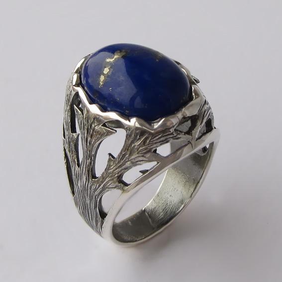 Кольцо с лазуритом, арт.ЛИН312