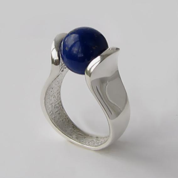Кольцо с лазуритом, арт. МРС3