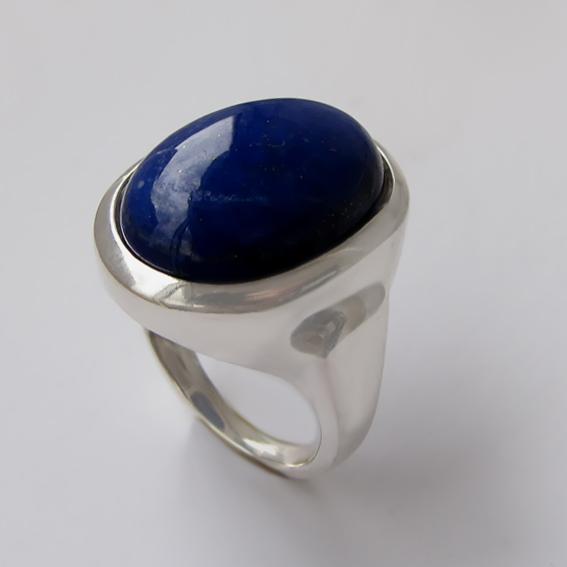 Кольцо с лазуритом, арт.ОВН315