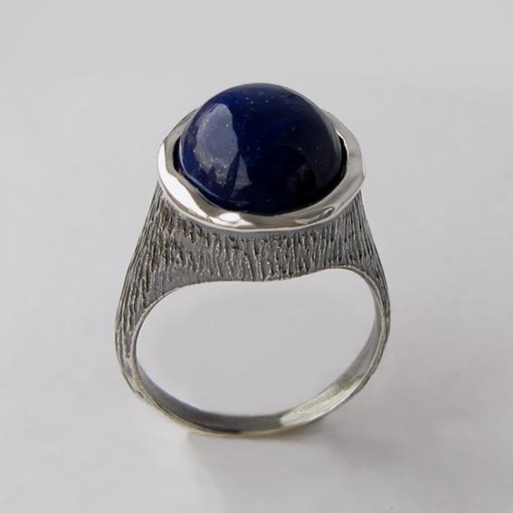Кольцо с лазуритом, арт.ПЕ3