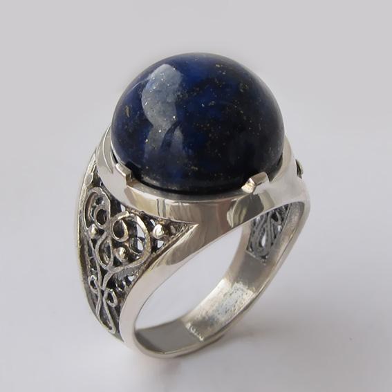 Кольцо с лазуритом, арт.ПЕР315
