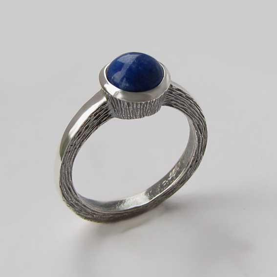 Кольцо с лазуритом, арт. ПФ38