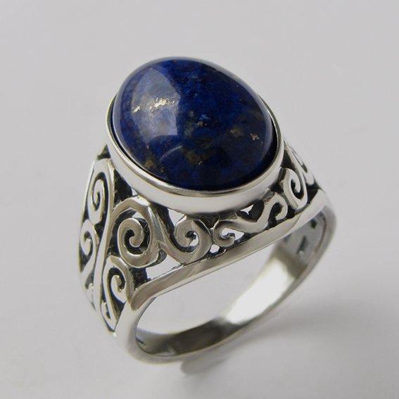 Кольцо с лазуритом, арт.УР3