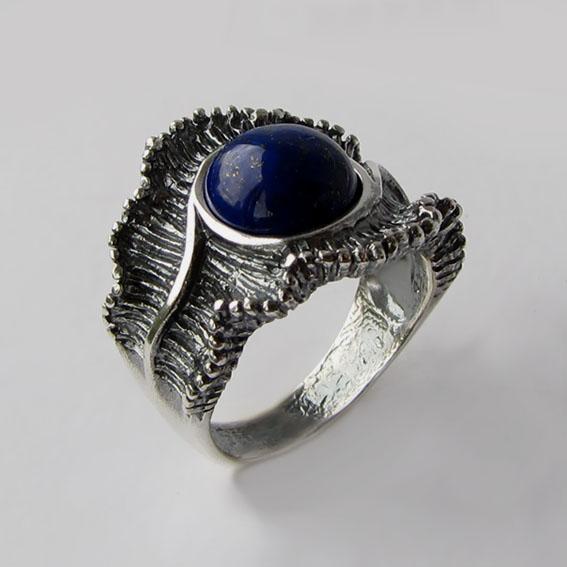 Кольцо с лазуритом, арт.ВОЛ32