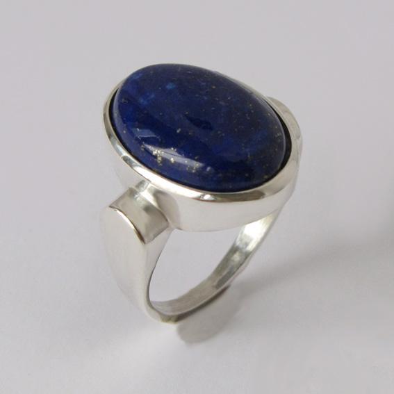 Кольцо с лазуритом, арт.ЗЕ313