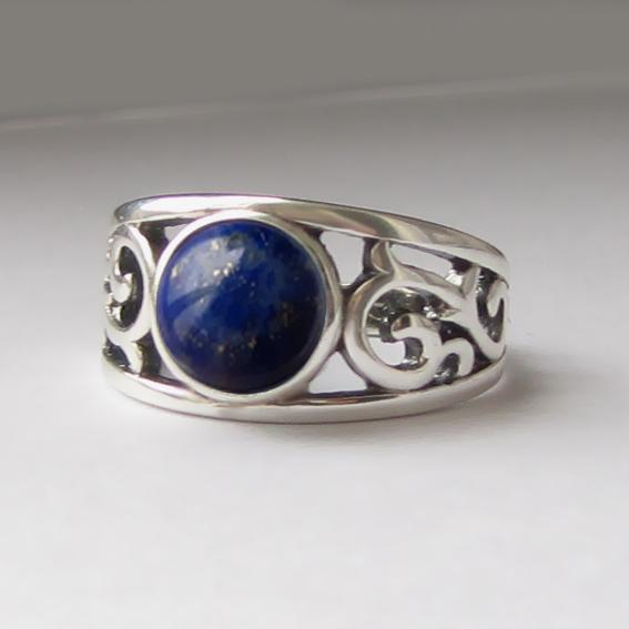 Кольцо с лазуритом, арт. ЭТ38