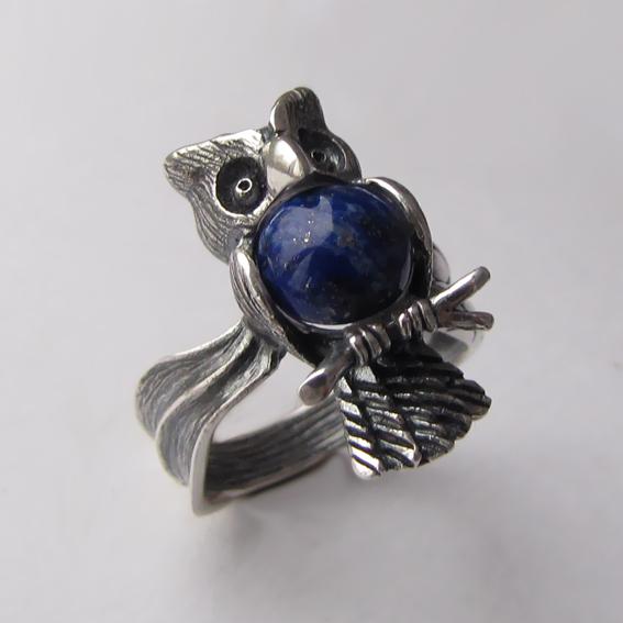 Кольцо с лазуритом, арт. ФИЛ3