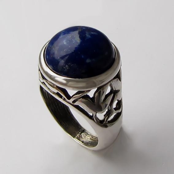 Кольцо с лазуритом, арт. КУ314