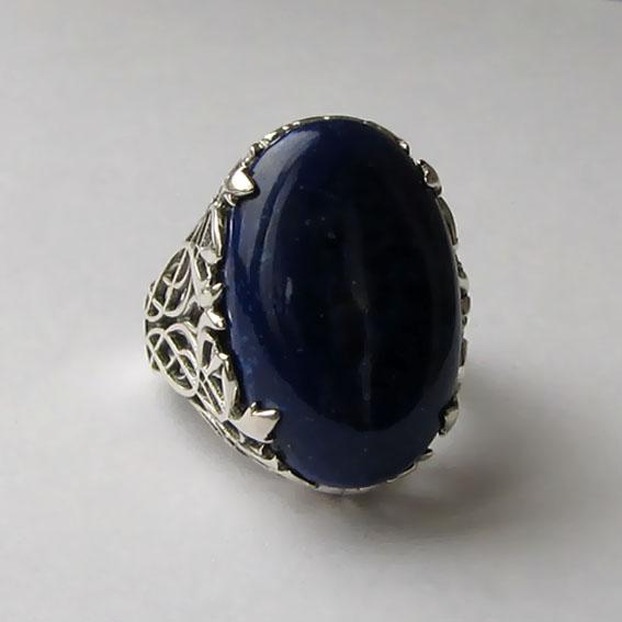 Кольцо с лазуритом, арт. ЛИ315