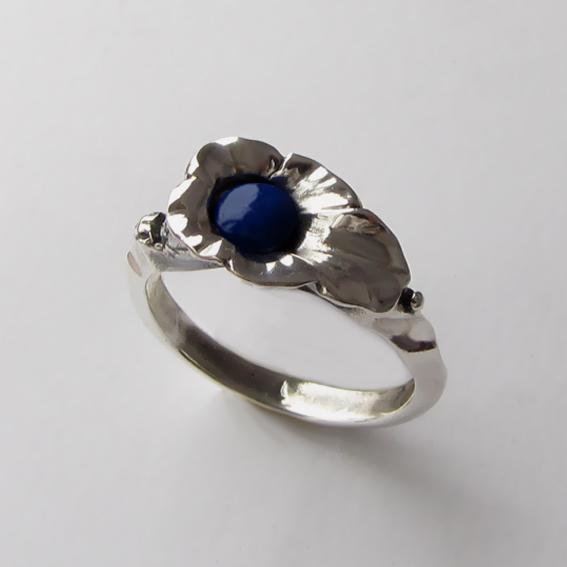 Кольцо с лазуритом, арт. ЛИС35