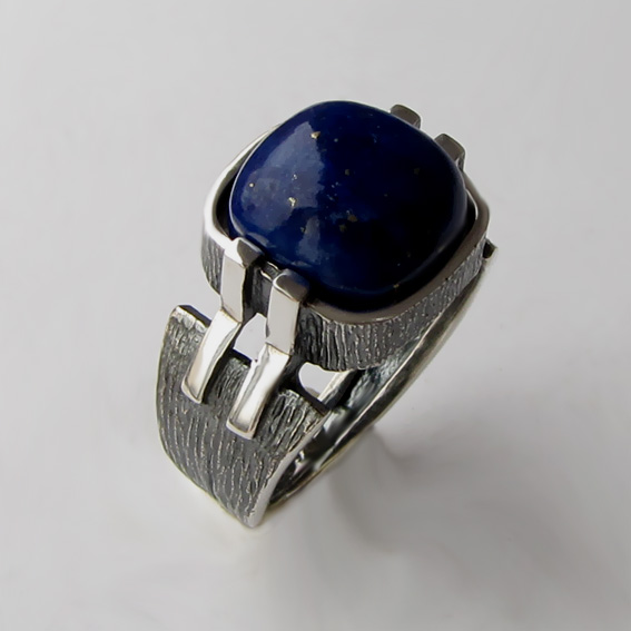 Кольцо с лазуритом, арт.МП3