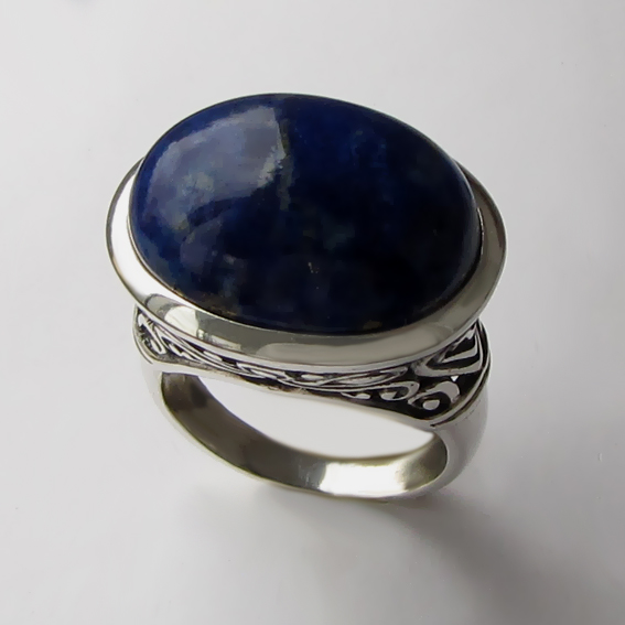 Кольцо с лазуритом, арт. ОВВ3