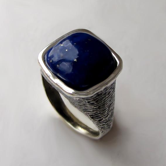 Кольцо с лазуритом, арт. ПЕКВ312