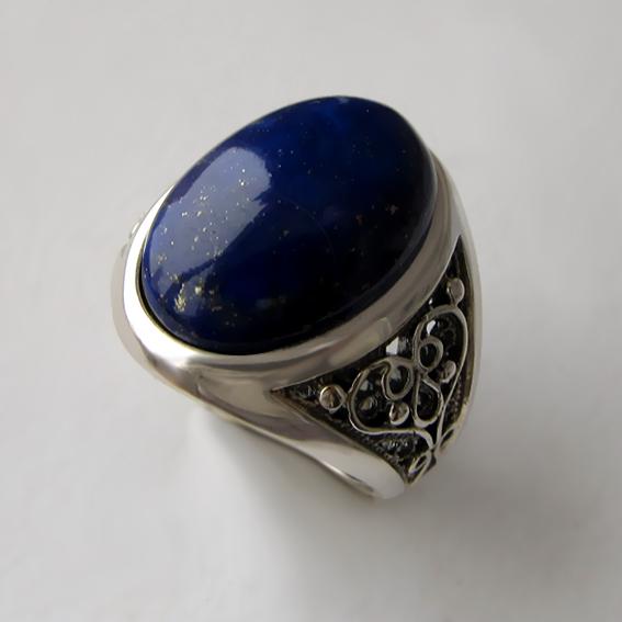 Кольцо с лазуритом, арт. ПЕРОВ3