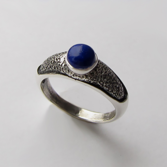 Кольцо с лазуритом, арт. ПФ35, серебро 925
