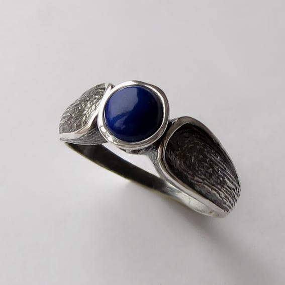 Кольцо с лазуритом, арт. ПФЧ36, серебро 925