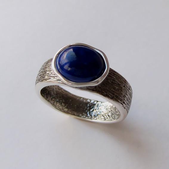 Кольцо с лазуритом, арт. ПФОВ37