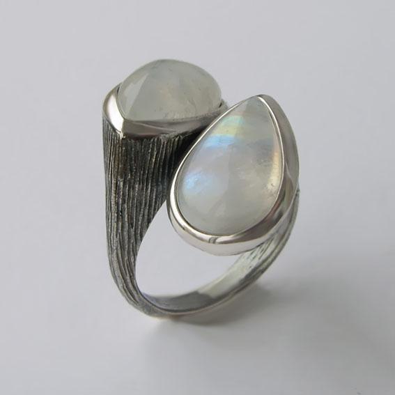 Кольцо с лунным камнем, арт. 2СЛЧ3