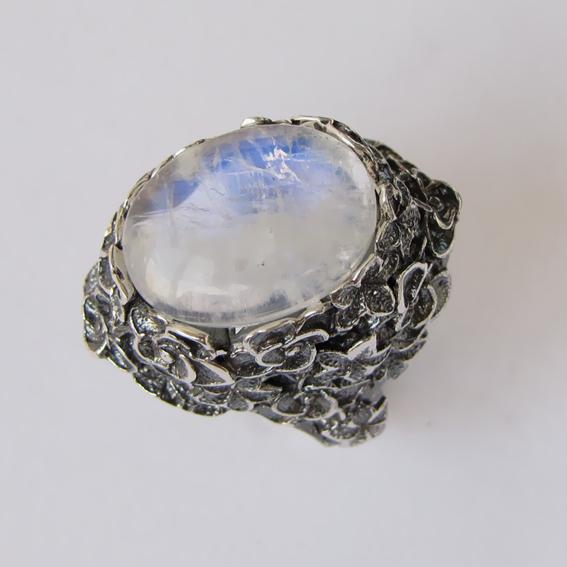 Кольцо с лунным камнем, арт. БУК3
