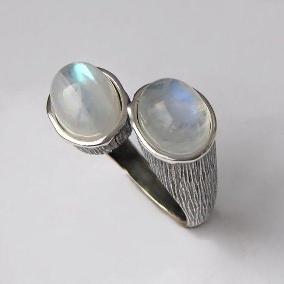 Кольцо с лунным камнем, арт. САТОВ3