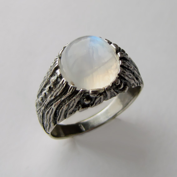 Кольцо с лунным камнем, арт. ПР3
