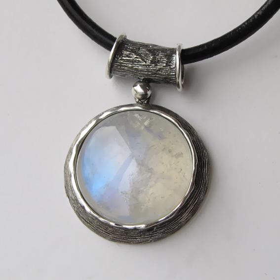 Кулон с лунным камнем, арт. ГЧ120