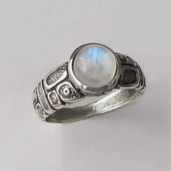 Кольцо с лунным камнем, арт. ГРИК3