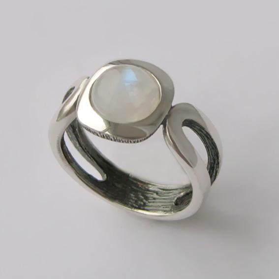 Кольцо с лунным камнем, арт. ЛСП3