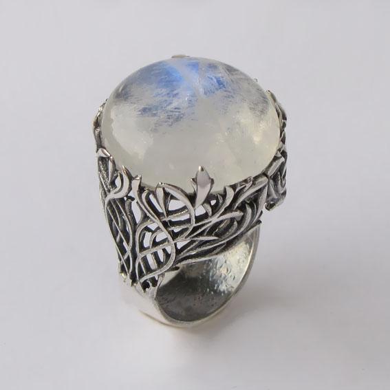 Кольцо с лунным камнем, арт. ЛИК3