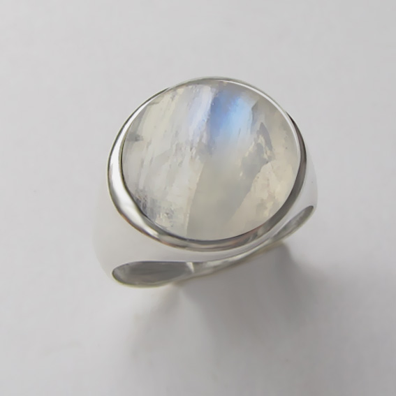 Кольцо с лунным камнем, арт. НКН313