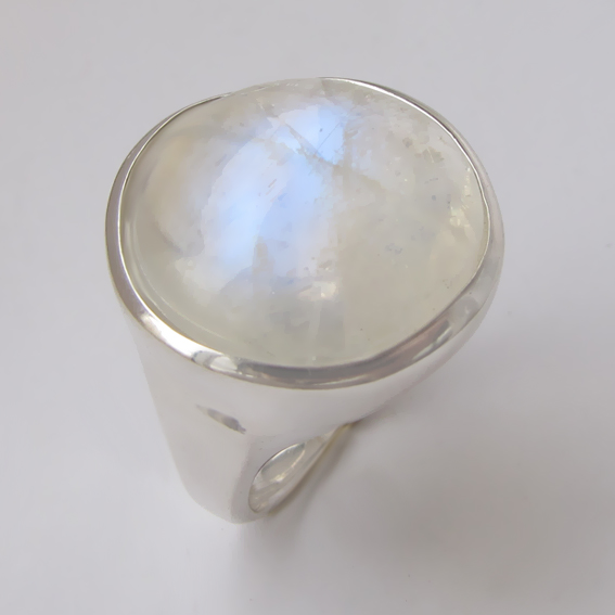 Кольцо с лунным камнем, арт. НКН320