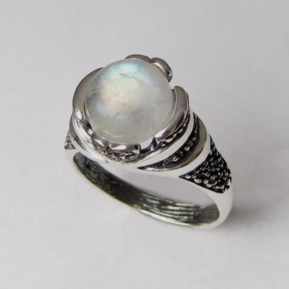 Кольцо с лунным камнем, арт. ПЕБА3