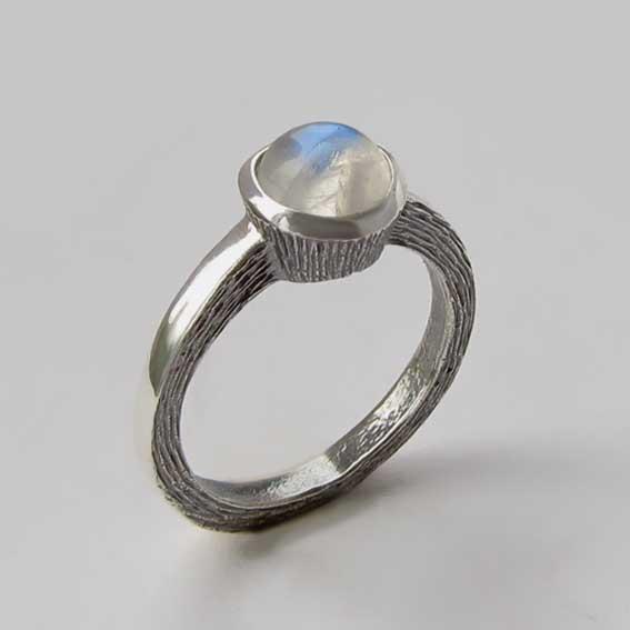 Кольцо с лунным камнем, арт. ПФ38