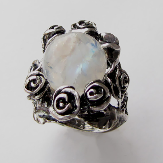 Кольцо с лунным камнем, арт. РО3