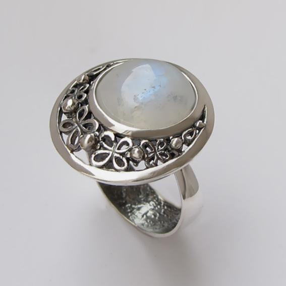 Кольцо с лунным камнем, арт. УЗ312